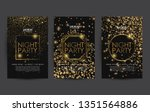 golden night club party poster...   Shutterstock .eps vector #1351564886