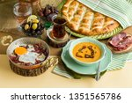traditional iftar begining meal ... | Shutterstock . vector #1351565786