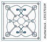 chain patten design for square... | Shutterstock .eps vector #1351570109