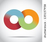 Rainbow Infinity Symbol. Eps 8...