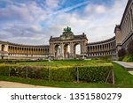 view of the triumphal arch in... | Shutterstock . vector #1351580279