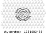 individualist grey emblem with...   Shutterstock .eps vector #1351603493
