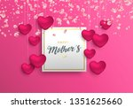 happy mothers day greeting card ...   Shutterstock .eps vector #1351625660