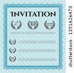 light blue formal invitation....   Shutterstock .eps vector #1351626473