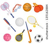 Set Of Objects Of Sports...
