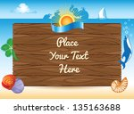 sea summer travel background | Shutterstock .eps vector #135163688