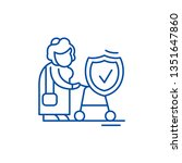 pension fund line icon concept. ... | Shutterstock .eps vector #1351647860
