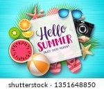hello summer vector banner...   Shutterstock .eps vector #1351648850