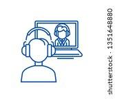 online interview study school... | Shutterstock .eps vector #1351648880