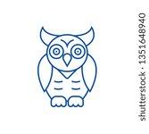 owl wisdom line icon concept.... | Shutterstock .eps vector #1351648940