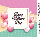 happy mothers day card   Shutterstock .eps vector #1351666826