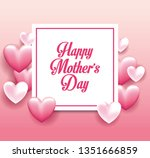 happy mothers day card | Shutterstock .eps vector #1351666859