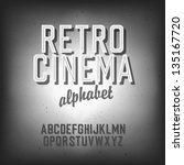 old cinema styled alphabet.... | Shutterstock .eps vector #135167720