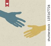 abstract hand shake. vector ... | Shutterstock .eps vector #135167726