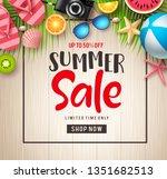 summer sale vector banner...   Shutterstock .eps vector #1351682513