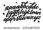 hand drawn typeface set... | Shutterstock .eps vector #1351687520