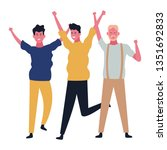 people dancing and having fun | Shutterstock .eps vector #1351692833