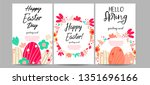 a set of beautiful spring...   Shutterstock .eps vector #1351696166