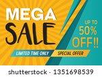 mega sale discount offer... | Shutterstock .eps vector #1351698539