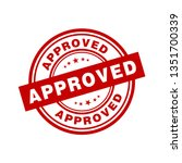approved sign vector | Shutterstock .eps vector #1351700339