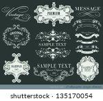 calligraphic design elements... | Shutterstock .eps vector #135170054