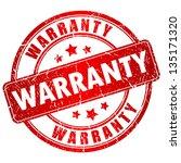 warranty vector stamp | Shutterstock .eps vector #135171320