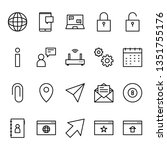 user interface 4 icon outline