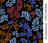 vector seamless botanical... | Shutterstock .eps vector #1351765406
