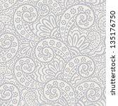 seamless pattern with paisley | Shutterstock .eps vector #135176750