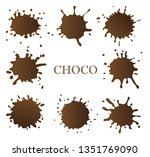 choco splashes set | Shutterstock .eps vector #1351769090