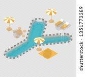 Isometric 3d Swimming Pool...