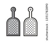 isolated black and white grater ...   Shutterstock .eps vector #1351782890