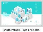design website or landing page...   Shutterstock .eps vector #1351786586
