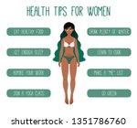 health tips for women vector... | Shutterstock .eps vector #1351786760