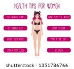 health tips for women vector... | Shutterstock .eps vector #1351786766