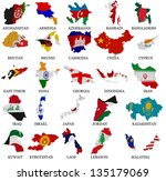 asia countries from a to m ...   Shutterstock . vector #135179069