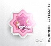 ramadan kareem background paper ... | Shutterstock .eps vector #1351823453