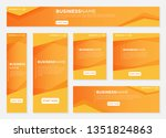 set of banners pack design with ... | Shutterstock .eps vector #1351824863