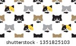 Cat Seamless Pattern Vector...