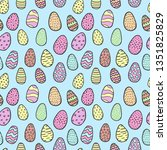hand drawn doodle style easter... | Shutterstock .eps vector #1351825829