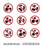 set of antibacterial sign. no... | Shutterstock .eps vector #1351826216