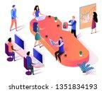 creative business group...   Shutterstock .eps vector #1351834193