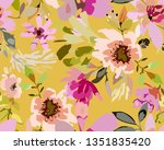 vintage old pattern with brown... | Shutterstock .eps vector #1351835420
