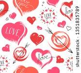 bright hand drawn seamless... | Shutterstock .eps vector #1351835789
