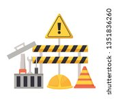 construction equipment repair | Shutterstock .eps vector #1351836260