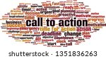 call to action word cloud... | Shutterstock .eps vector #1351836263