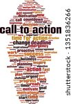 call to action word cloud... | Shutterstock .eps vector #1351836266