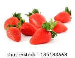 the strawberry isolated on a... | Shutterstock . vector #135183668