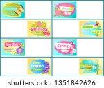 spring big sale off set of...   Shutterstock . vector #1351842626