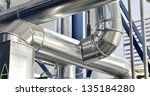 large industrial boiler room | Shutterstock . vector #135184280